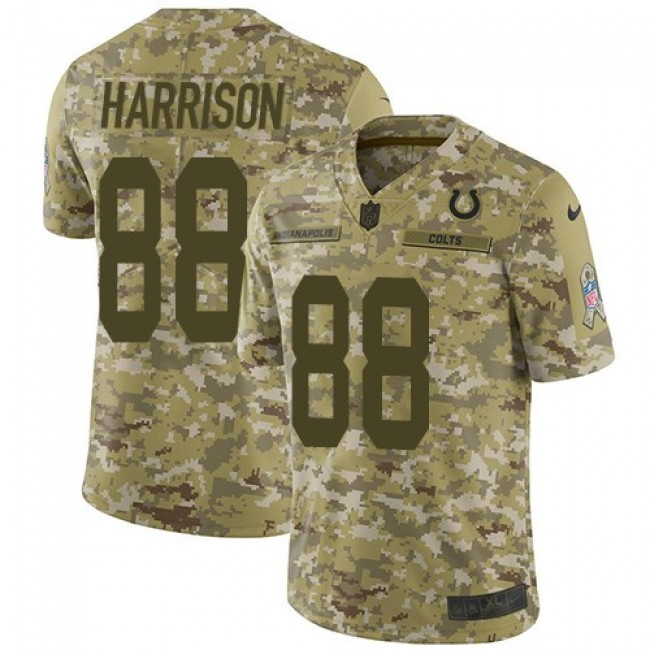 Nike Colts #88 Marvin Harrison Camo Men's Stitched NFL Limited 2018 Salute To Service Jersey
