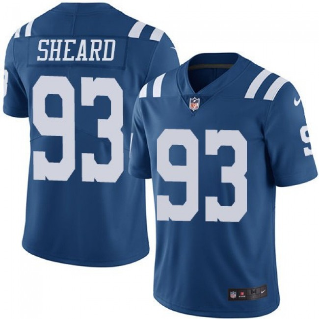 Nike Colts #93 Jabaal Sheard Royal Blue Men's Stitched NFL Limited Rush Jersey