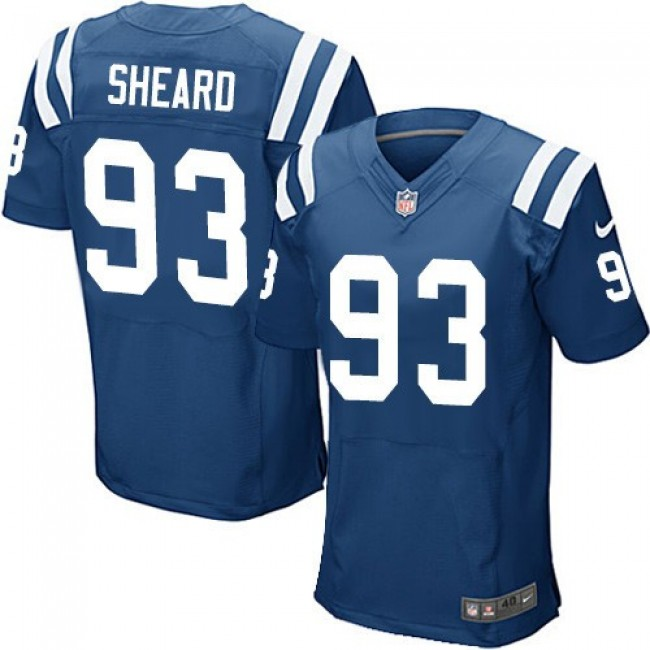 Nike Colts #93 Jabaal Sheard Royal Blue Team Color Men's Stitched NFL Elite Jersey
