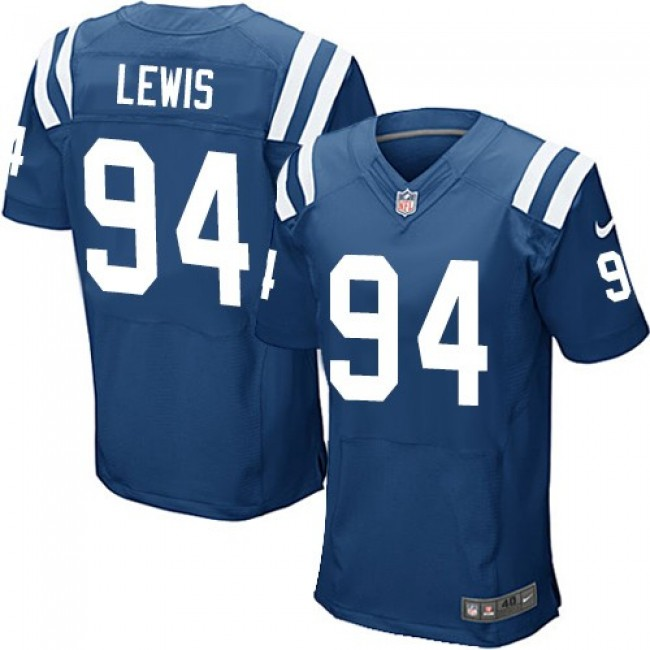 Nike Colts #94 Tyquan Lewis Royal Blue Team Color Men's Stitched NFL Elite Jersey