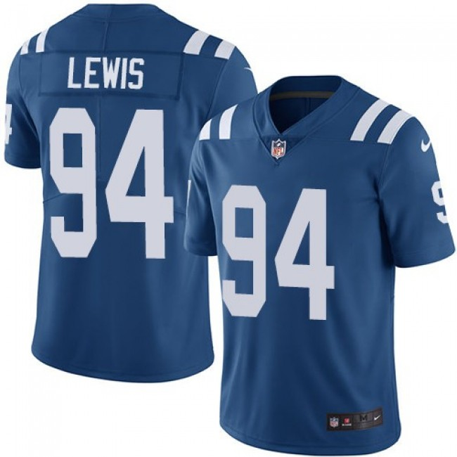Nike Colts #94 Tyquan Lewis Royal Blue Team Color Men's Stitched NFL Vapor Untouchable Limited Jersey
