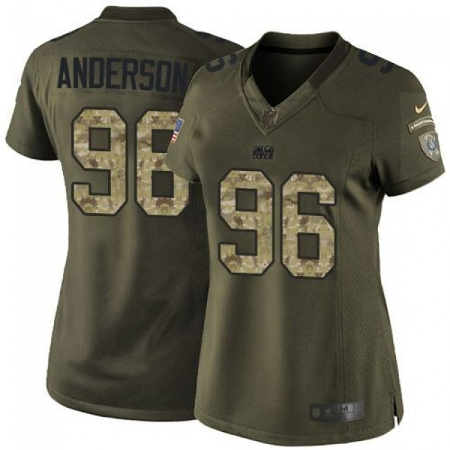 Women's Colts #96 Henry Anderson Green Stitched NFL Limited Salute to Service Jersey
