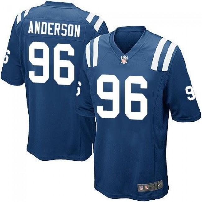 Indianapolis Colts #96 Henry Anderson Royal Blue Team Color Youth Stitched NFL Elite Jersey
