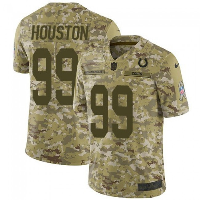 Nike Colts #99 Justin Houston Camo Men's Stitched NFL Limited 2018 Salute To Service Jersey