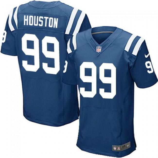 Nike Colts #99 Justin Houston Royal Blue Team Color Men's Stitched NFL Elite Jersey