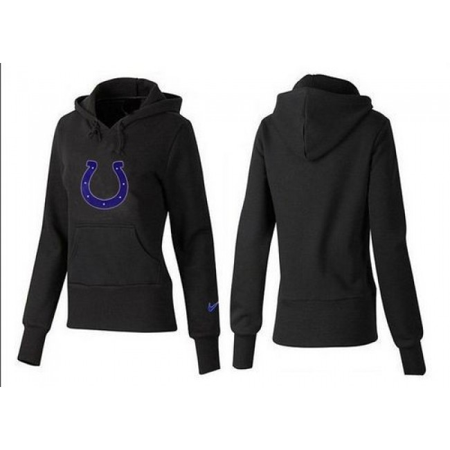 Women's Indianapolis Colts Logo Pullover Hoodie Black Jersey