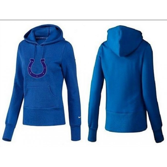 Women's Indianapolis Colts Logo Pullover Hoodie Blue Jersey