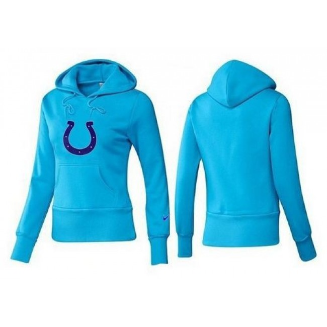 Women's Indianapolis Colts Logo Pullover Hoodie Light Blue Jersey