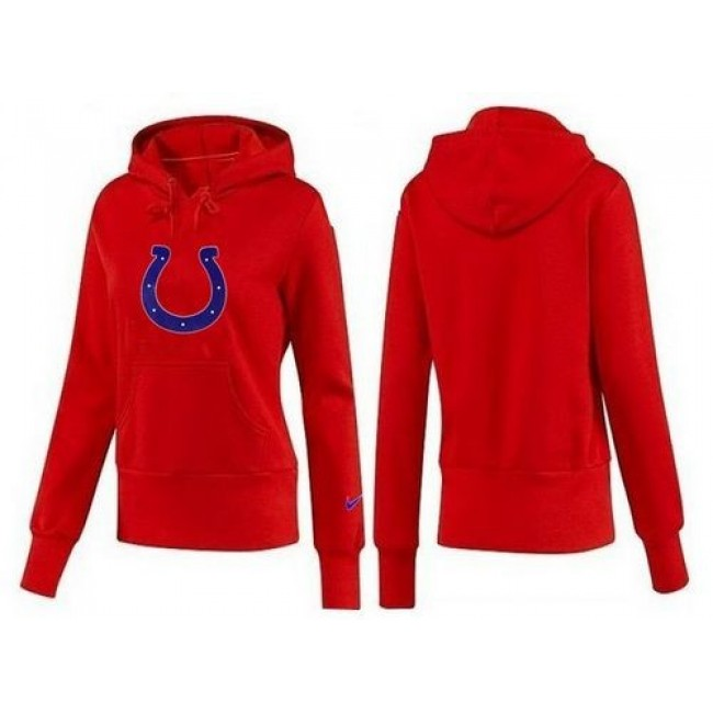Women's Indianapolis Colts Logo Pullover Hoodie Red Jersey