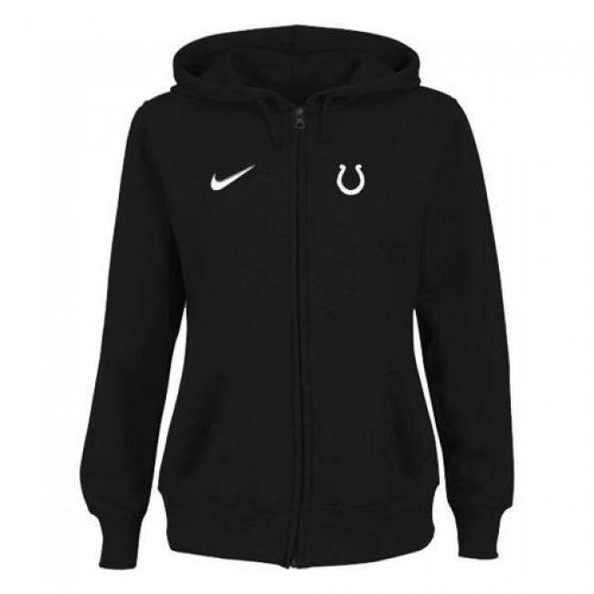 Women's Indianapolis Colts Stadium Rally Full Zip Hoodie Black Jersey