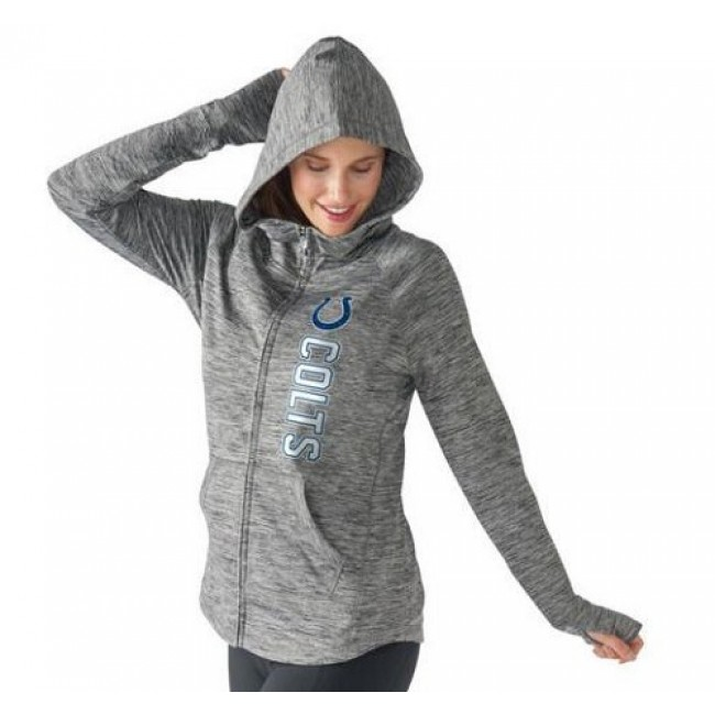 Women's NFL Indianapolis Colts G-III 4Her by Carl Banks Recovery Full-Zip Hoodie Heathered Gray Jersey
