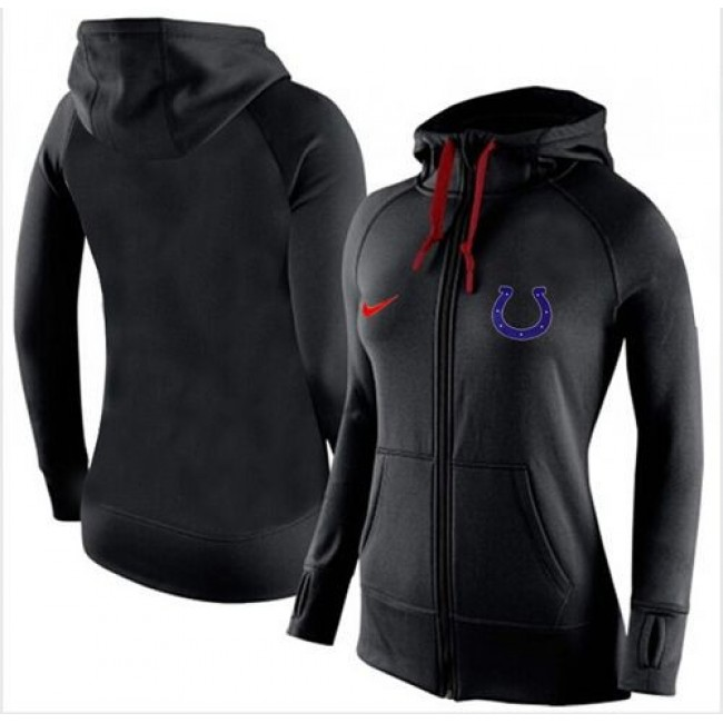 Women's Indianapolis Colts Full-Zip Hoodie Black Jersey