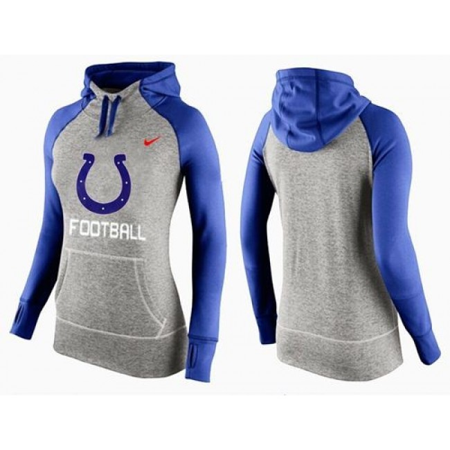Women's Indianapolis Colts Hoodie Grey Blue-1 Jersey