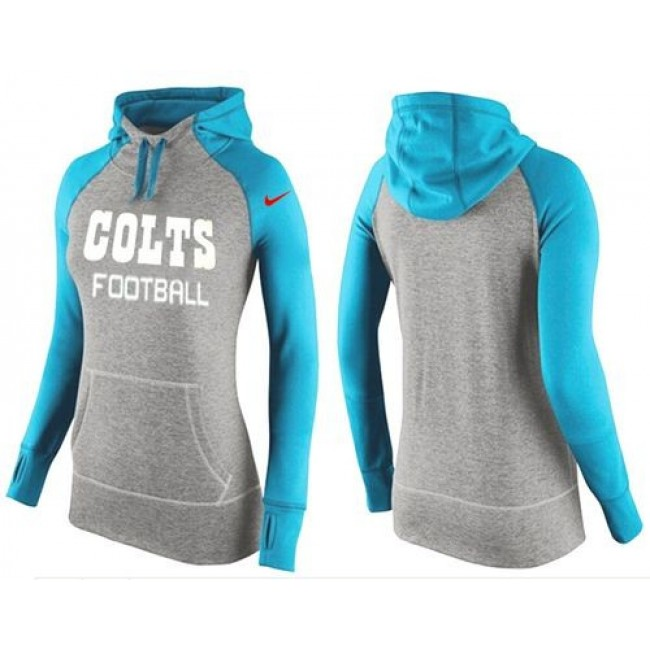 Women's Indianapolis Colts Hoodie Grey Light Blue Jersey