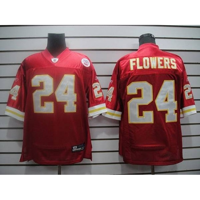 Chiefs #24 Brandon Flowers Red Stitched NFL Jersey