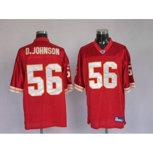 Chiefs #56 Derrick Johnson Red Stitched NFL Jersey