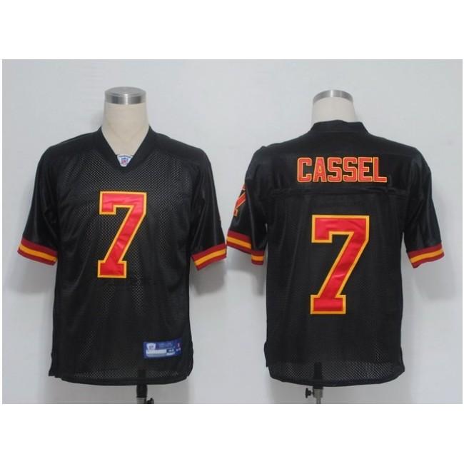 Chiefs #7 Matt Cassel Black Stitched NFL Jersey
