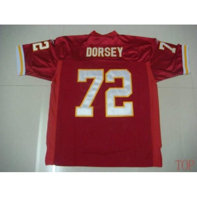 Chiefs #72 Glenn Dorsey Red Stitched NFL Jersey