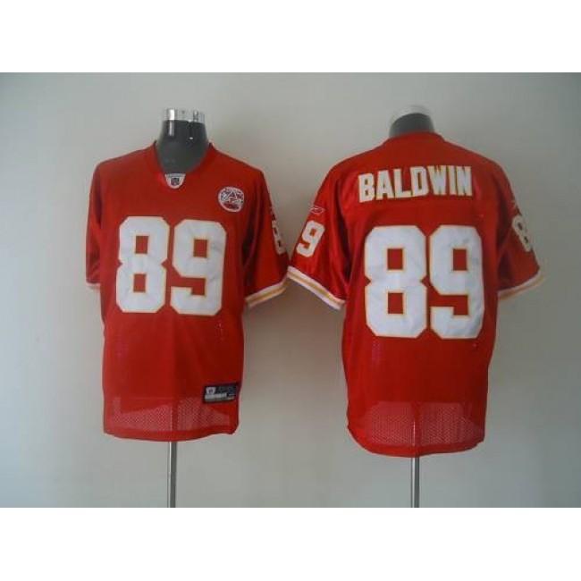Chiefs #89 Jonathan Baldwin Red Stitched NFL Jersey