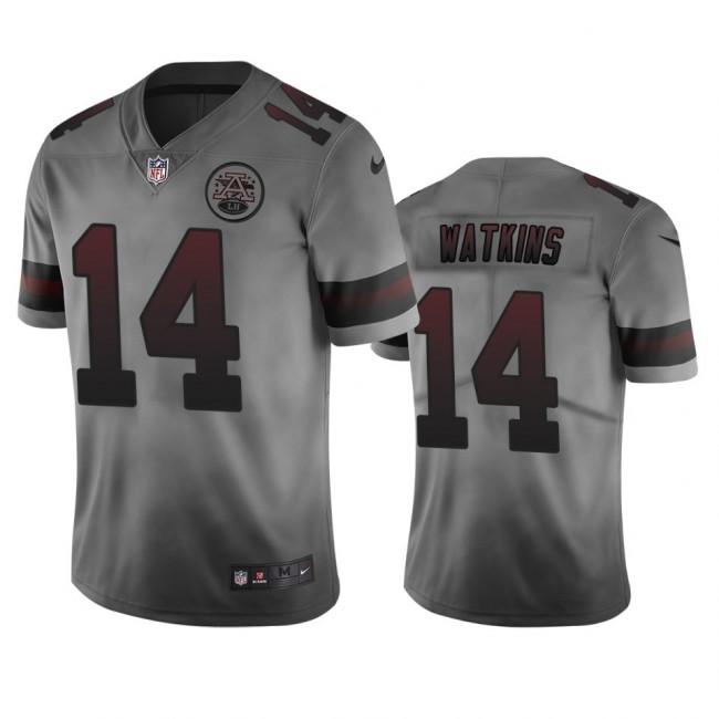 Kansas City Chiefs #14 Sammy Watkins Smoky Men's Nike Vapor Limited City Edition NFL Jersey