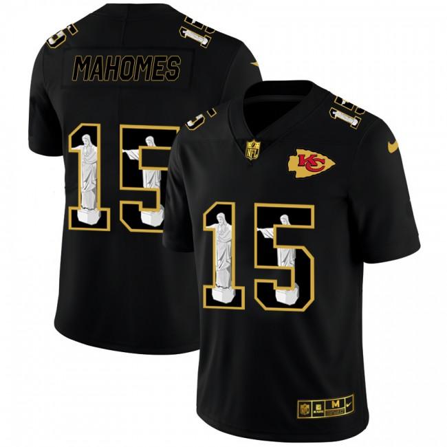 Kansas City Chiefs #15 Patrick Mahomes Nike Carbon Black Vapor Cristo Redentor Limited NFL Jersey