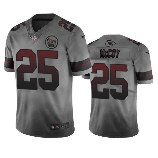Kansas City Chiefs #25 Lesean Mccoy Smoky Men's Nike Vapor Limited City Edition NFL Jersey