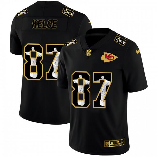 Kansas City Chiefs #87 Travis Kelce Nike Carbon Black Vapor Cristo Redentor Limited NFL Jersey