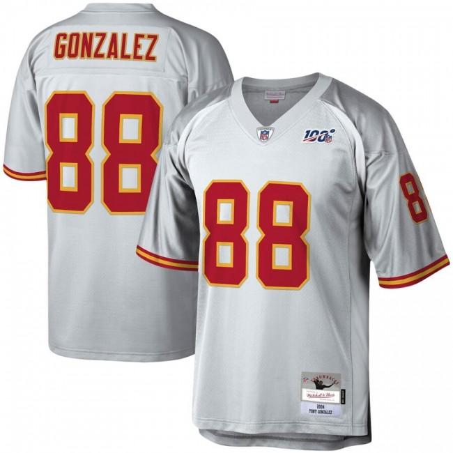 Kansas City Chiefs #88 Tony Gonzalez Mitchell & Ness NFL 100 Retired Player Platinum Jersey