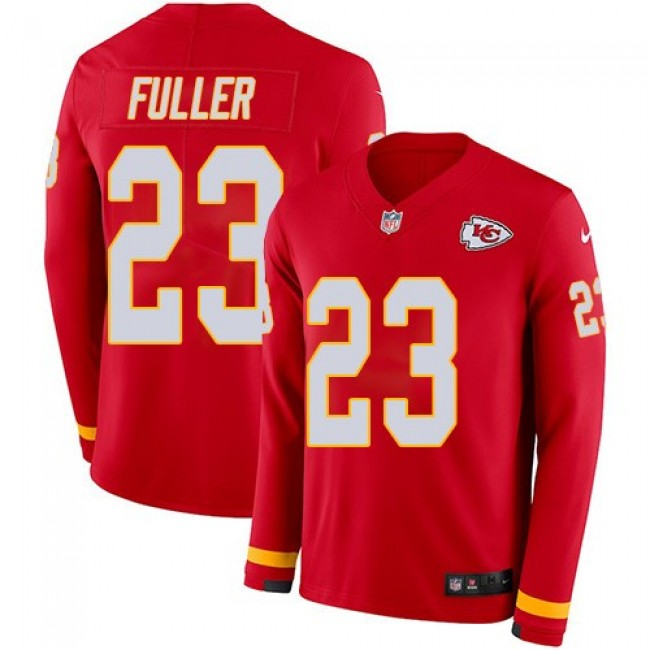 Men's Chiefs #23 Kendall Fuller Red Team Color Men's Stitched NFL Limited Therma Long Sleeve Jersey
