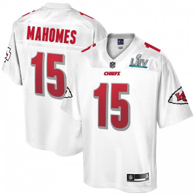Men's Kansas City Chiefs #15 Patrick Mahomes NFL Pro Line White Super Bowl LIV Champions Jersey
