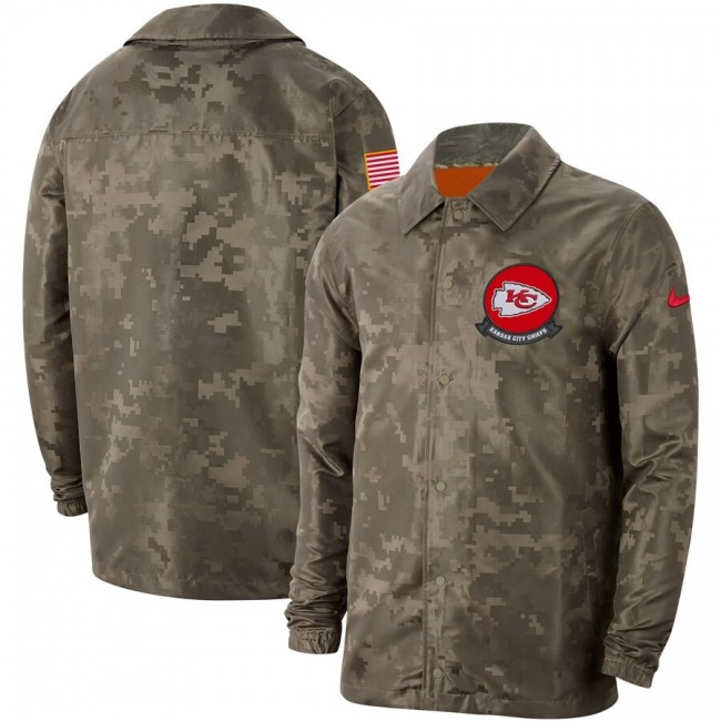 Men's Kansas City Chiefs Nike Camo 2019 Salute to Service Sideline Full-Zip Lightweight Jacket