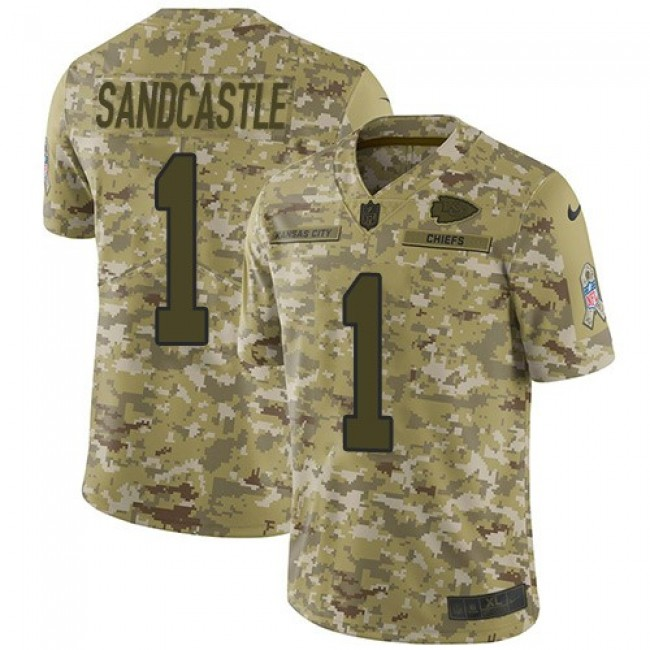 Nike Chiefs #1 Leon Sandcastle Camo Men's Stitched NFL Limited 2018 Salute To Service Jersey