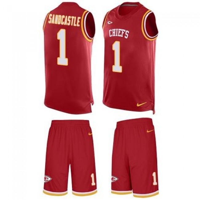 Nike Chiefs #1 Leon Sandcastle Red Team Color Men's Stitched NFL Limited Tank Top Suit Jersey