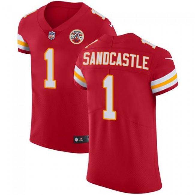 Nike Chiefs #1 Leon Sandcastle Red Team Color Men's Stitched NFL Vapor Untouchable Elite Jersey