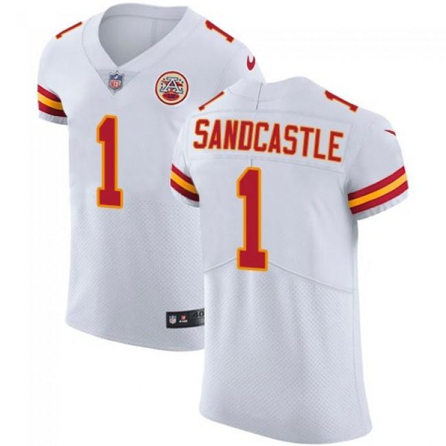Nike Chiefs #1 Leon Sandcastle White Men's Stitched NFL Vapor Untouchable Elite Jersey