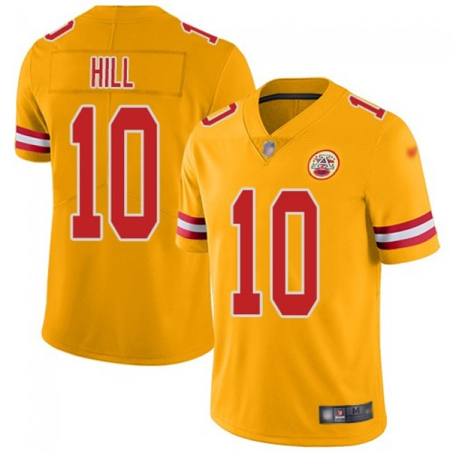 Nike Chiefs #10 Tyreek Hill Gold Men's Stitched NFL Limited Inverted Legend Jersey