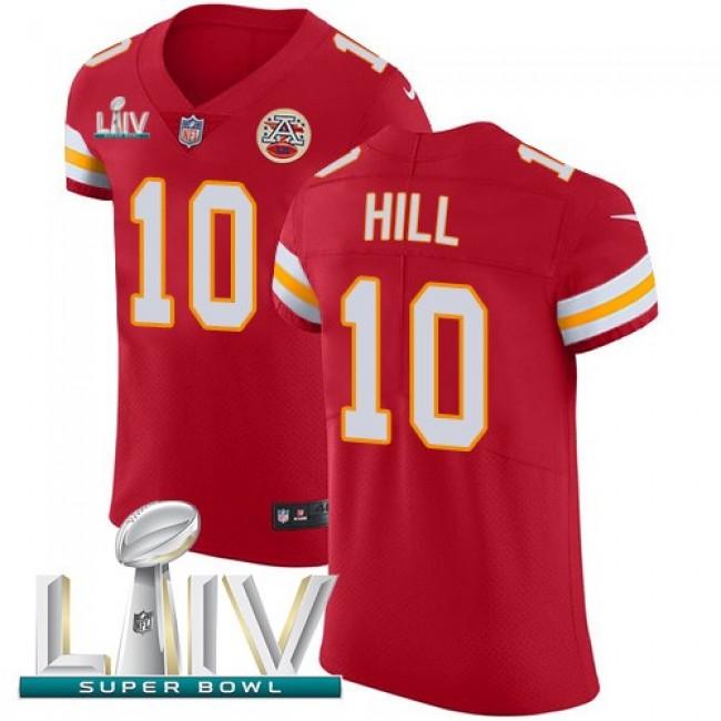 Nike Chiefs #10 Tyreek Hill Red Super Bowl LIV 2020 Team Color Men's Stitched NFL Vapor Untouchable Elite Jersey