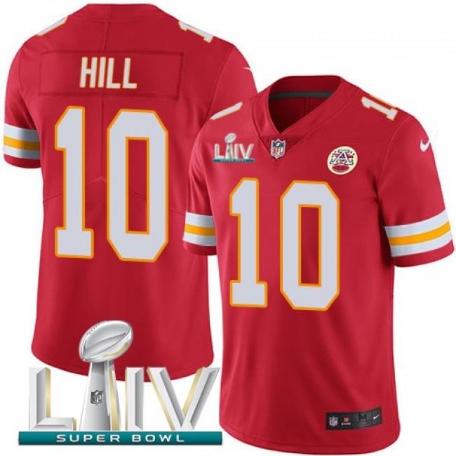Nike Chiefs #10 Tyreek Hill Red Super Bowl LIV 2020 Team Color Men's Stitched NFL Vapor Untouchable Limited Jersey