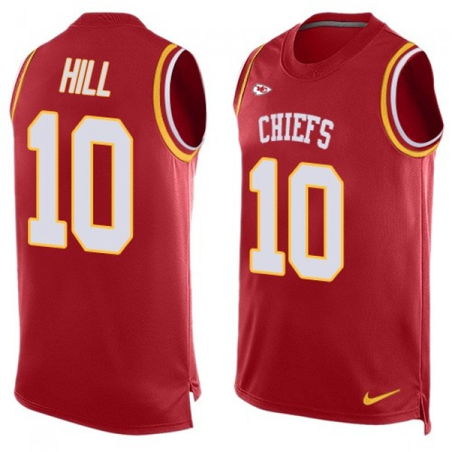 Nike Chiefs #10 Tyreek Hill Red Team Color Men's Stitched NFL Limited Tank Top Jersey