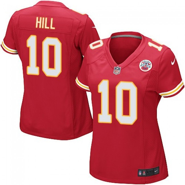 Women's Chiefs #10 Tyreek Hill Red Team Color Stitched NFL Elite Jersey