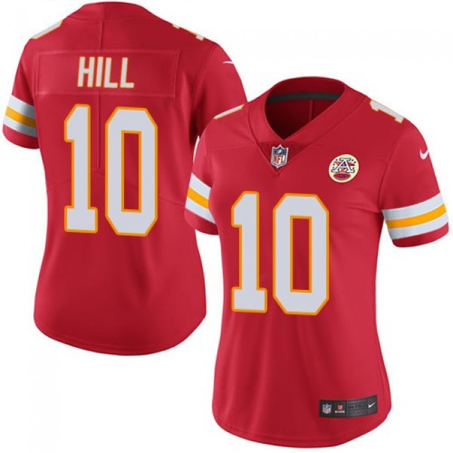 Women's Chiefs #10 Tyreek Hill Red Team Color Stitched NFL Vapor Untouchable Limited Jersey
