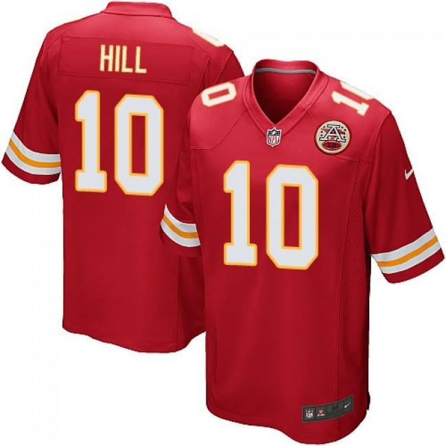 Kansas City Chiefs #10 Tyreek Hill Red Team Color Youth Stitched NFL Elite Jersey
