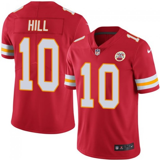 Kansas City Chiefs #10 Tyreek Hill Red Team Color Youth Stitched NFL Vapor Untouchable Limited Jersey