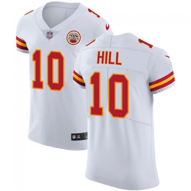 Nike Chiefs #10 Tyreek Hill White Men's Stitched NFL Vapor Untouchable Elite Jersey