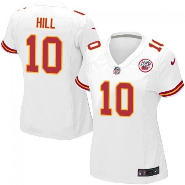 Women's Chiefs #10 Tyreek Hill White Stitched NFL Elite Jersey
