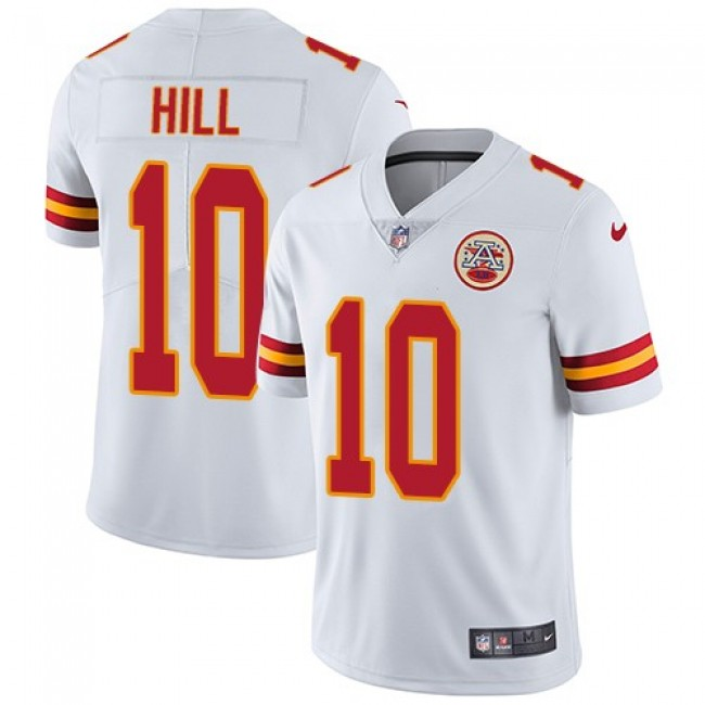 Kansas City Chiefs #10 Tyreek Hill White Youth Stitched NFL Vapor Untouchable Limited Jersey