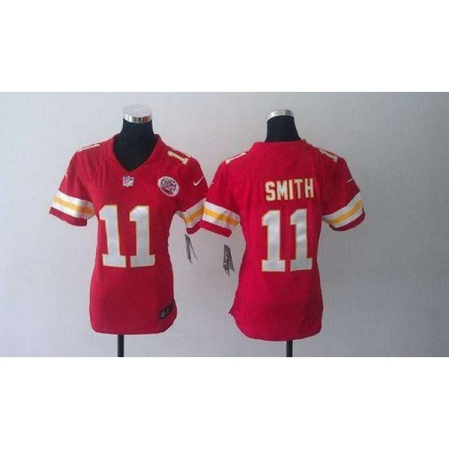 Women's Chiefs #11 Alex Smith Red Team Color Stitched NFL Elite Jersey