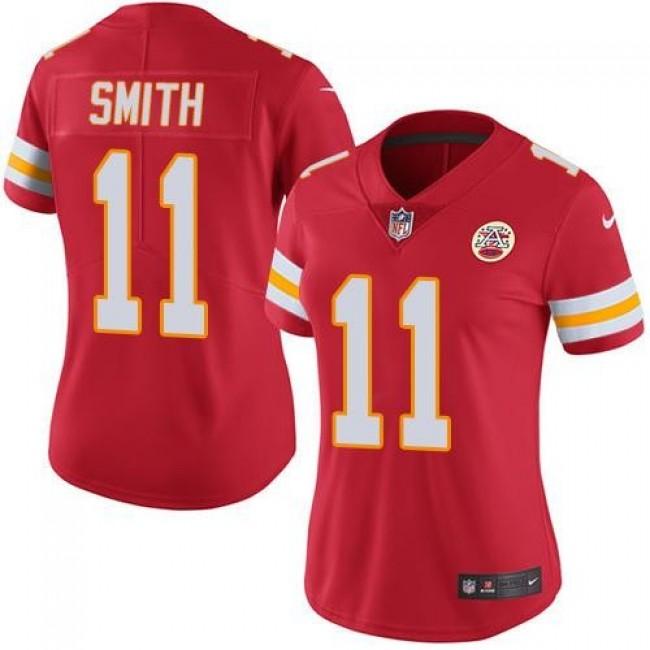 Women's Chiefs #11 Alex Smith Red Team Color Stitched NFL Vapor Untouchable Limited Jersey