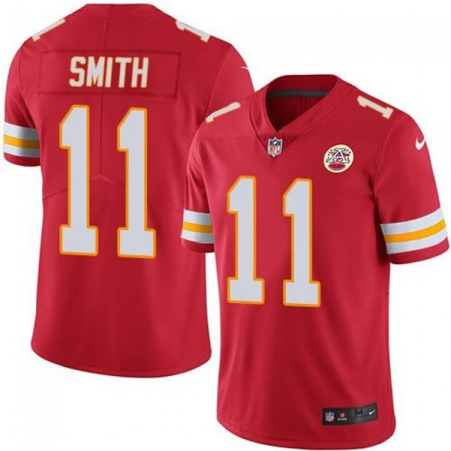 Kansas City Chiefs #11 Alex Smith Red Team Color Youth Stitched NFL Vapor Untouchable Limited Jersey