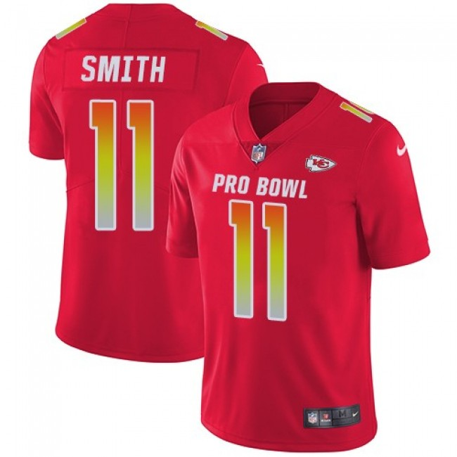 Kansas City Chiefs #11 Alex Smith Red Youth Stitched NFL Limited AFC 2018 Pro Bowl Jersey
